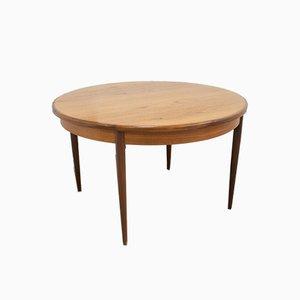 Tavolo da pranzo rotondo Mid-Century impiallacciato in teak di G-Plan, anni '60