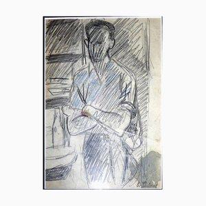 Bistro-Szene Zeichnung von Auguste Chabaud, 1920er