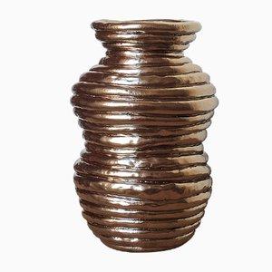Vaso in ceramica argentata di ymono, 2019