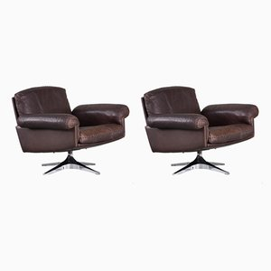 Leather Model DS31 Lounge Chairs from de Sede, 1970s, Set of 2