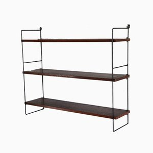Iron and Compressed Wood Shelf by Kajsa & Nils Strinning for String, 1960s