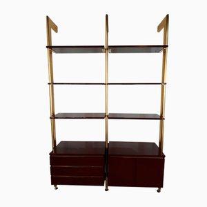 Libreria vintage modulare bordeaux di Guissano