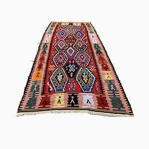 Türkischer Vintage Wollteppich, 1960er