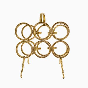 Vintage Brass Wine Rack