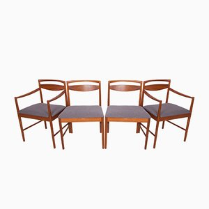 Chaises de Salle à Manger Mid-Century en Teck par Tom Robertson pour McIntosh, 1960s, Set de 4
