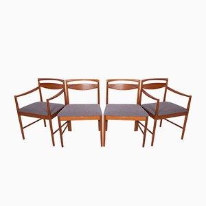 Sedie da pranzo Mid-Century in teak di Tom Robertson per McIntosh, anni '60, set di 4