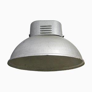 Lampe à Suspension Industrielle Vintage Grise, 1950s