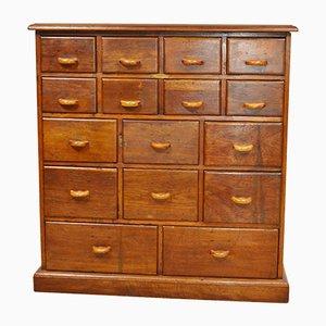 Industrieller Vintage Schubladenschrank aus Holz