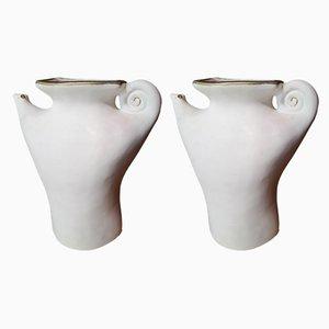 Vasi Grand Ourse vintage di Pierre Casenove per Luneville, set di 2