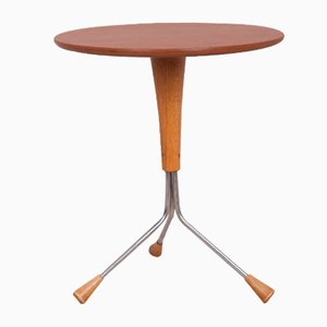 Scandinavian Modern Copper and Teak Coffee Table by Albert Larsson for Alberts Tibro, 1960s