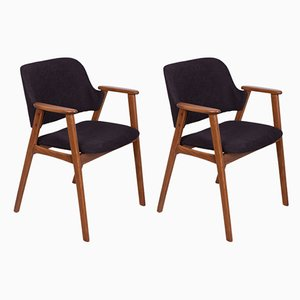 Danish Black Armchairs, 1960s, Set of 2