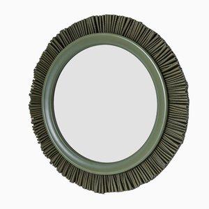 Specchio grande Gloria verde foresta di Lisa Hilland per Mylhta
