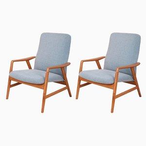 Danish Fabric Armchairs by Alf Svensson for Fritz Hansen, 1960s, Set of 2