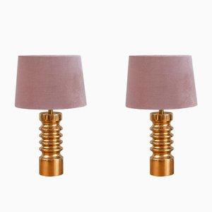 Schwedische Tischlampen aus Keramik, 1970er, 2er Set
