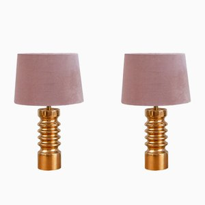 Swedish Ceramic Table Lamps, 1970s, Set of 2