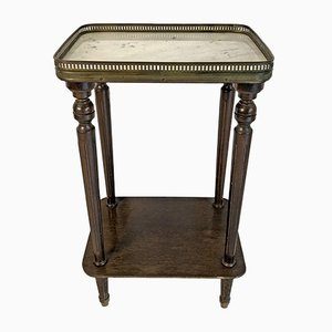 Mid-Century Brass and Oak Louis XVI Style Side Table, 1950s