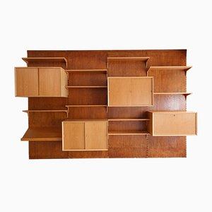 Libreria Cado modulare in quercia di Poul Cadovius, anni '60