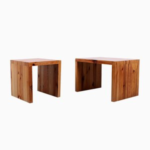 Solid Pine Nightstands by Ate van Apeldoorn for Houtwerk Hattem, 1960s, Set of 2