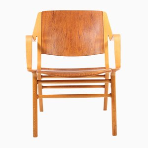 Mid-Century Danish Beech and Teak Lounge Chair by Peter Hvidt & Orla Mølgaard-Nielsen for Fritz Hansen, 1970s