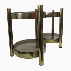Vintage Side Tables, Set of 2