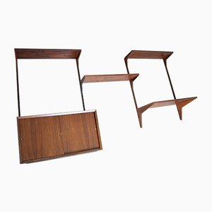 Danish Rosewood Shelving System by poul cadovius for Cado, 1960s