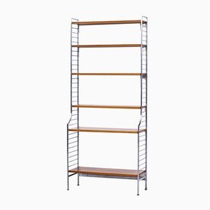 Steel and Teak Continental Shelving System by Kajsa & Nils Strinning for String Design AB, 1960s