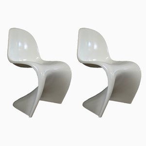 German Baydur Dining Chairs by Verner Panton, 1983, Set of 2