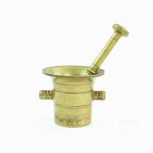 Vintage Czechoslovakian Brass Pestle & Mortar, 1940s