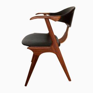 Cow Horn Chair by Louis van Teeffelen for AWA factory, 1950s