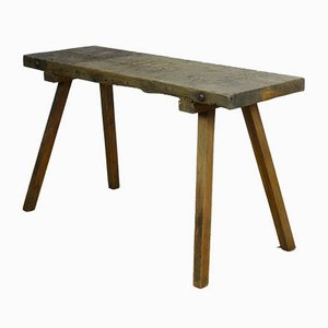 Vintage Industrial Oak Butcher's Table, 1930s