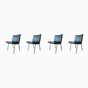 Danish AP 40 Airport Chairs by Hans J. Wegner for A.P. Stolen, 1960s, Set of 4