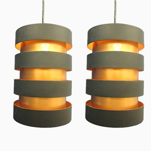 Eiffel Ceiling Lamps by Johannes Hammerborg for Fog & Mørup, 1960s, Set of 2