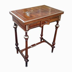 19th Century French Napoleon III Wooden Coffee Table