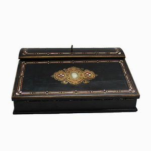 Antique 19th Century French Napoleon III Inlaid Travel Desk