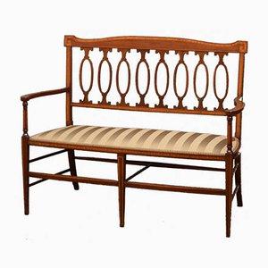 Antikes edwardianisches Sofa aus Mahagoni
