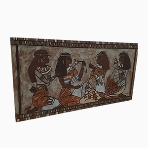 Vintage Large Ceramic Panel by Mazema for VALLAURIS