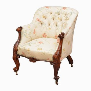 Antique Victorian Rosewood Armchair