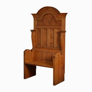 Banc Victorien Antique en Pin