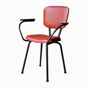 Mid-Century Leatherette and Metal Office Chair, 1950s