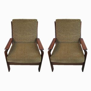 Mid-Century Scandinavian Rosewood Armchairs, Set of 2