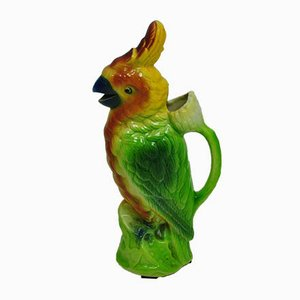 Vintage French Parrot Pitcher by Mark S. Clement