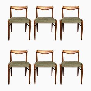 Esszimmerstühle aus Teak von HW Klein für Brahmin, 1960er, 6er Set