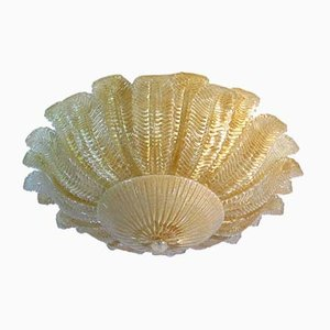 Vintage Italian Murano Glass Flower Ceiling Lamp, 1983