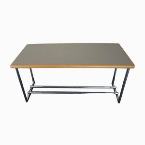 Chrome & Tubular Steel Menton Side Table by Eileen Gray for ClassiCon, 2000s