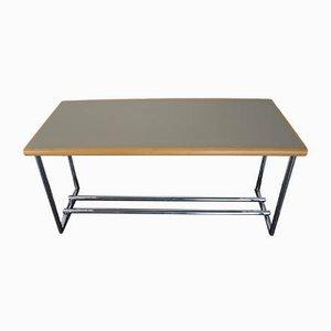 Tavolino Menton in acciaio tubolare e metallo cromato di Eileen Gray per ClassiCon, inizio XXI secolo