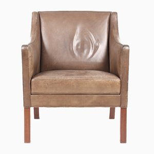 Mid-Century Danish Leather and Rosewood Lounge Chair, 1960s