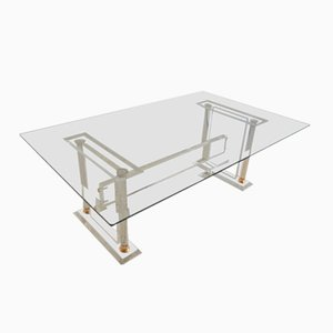 Acrylic Beveled Glass Coffee Table, 1970s