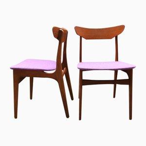 Danish Dining Chairs by Schiønning & Elgaard for Randers Møbelfabrik, 1960s, Set of 2