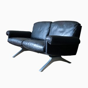 Vintage Dark Brown Leather Model DS 31 Sofa from de Sede, 1970s