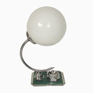 Art Déco Tischlampe aus Aluminium und Messing, 1960er